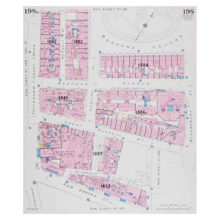 Goad (Charles E.) Fire insurance plan of Bloomsbury
