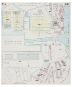 Goad (Charles E.) Fire insurance plan of Canary Wharf