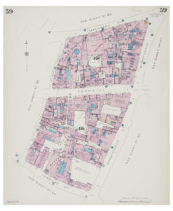 Goad (Charles E.) Fire insurance plan of Cornhill