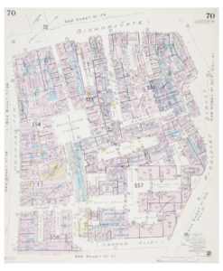Goad (Charles E.) Fire insurance plan of Cutler St & New St Warehouses of the Port of London Authority