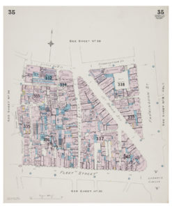 Goad (Charles E.) Fire insurance plan of Fleet Street