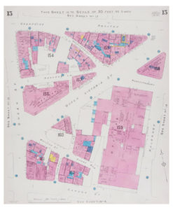 Goad (Charles E.) Fire insurance plan of Poultry to Cannon Street