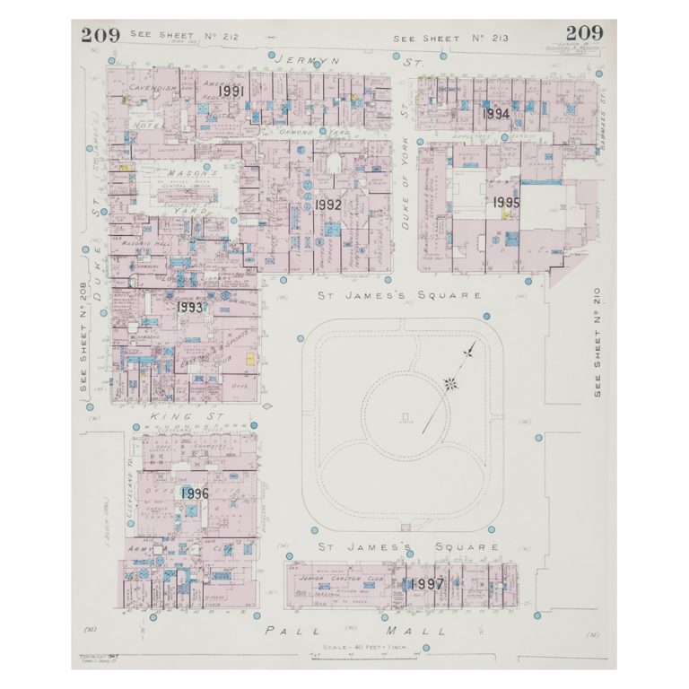Goad (Charles E.) Fire insurance plan of St James's Square