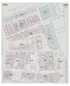 Goad (Charles E.) Fire insurance plan of Western Dock and Wapping Basin