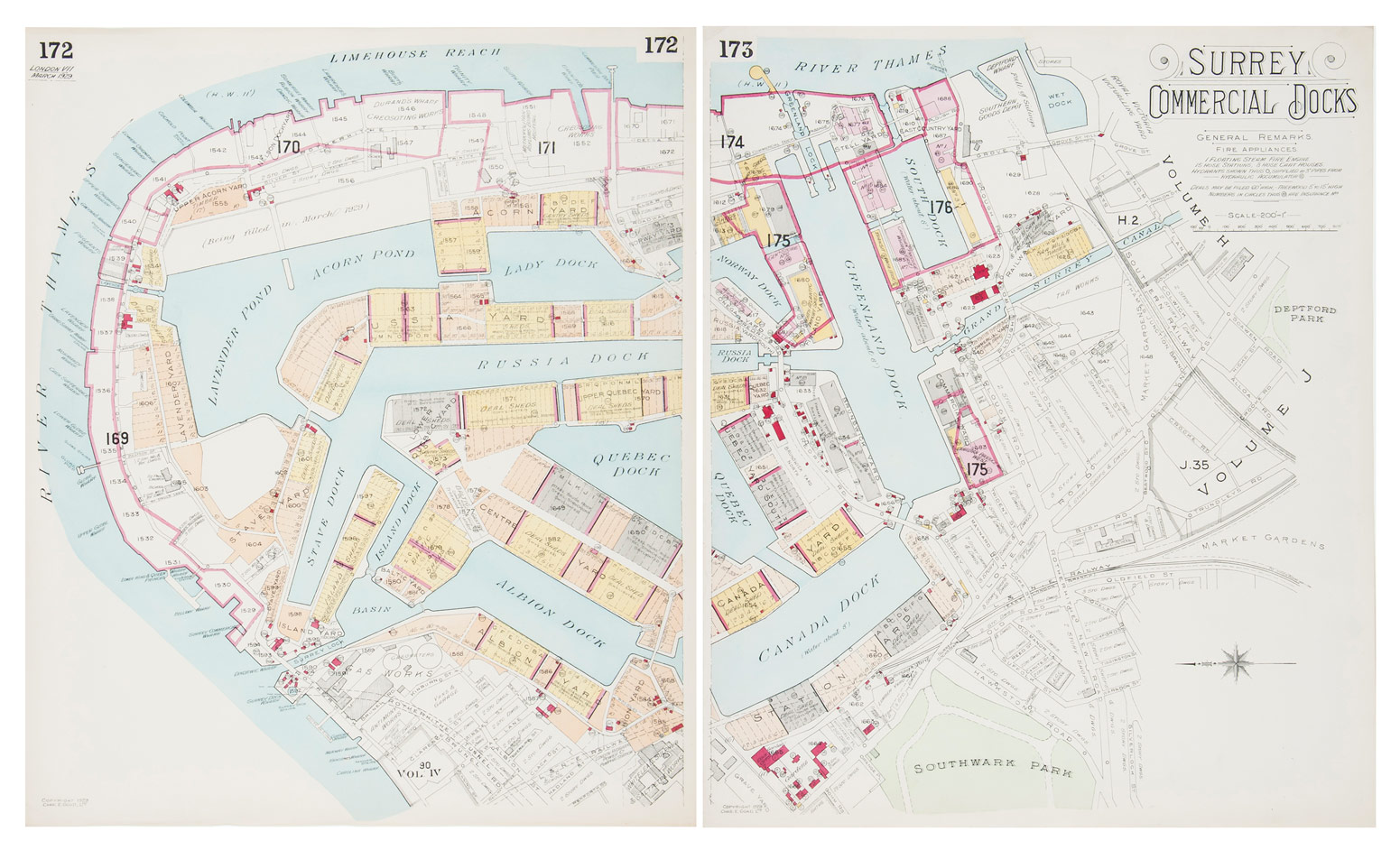 Old Street Maps - Surrey Docks